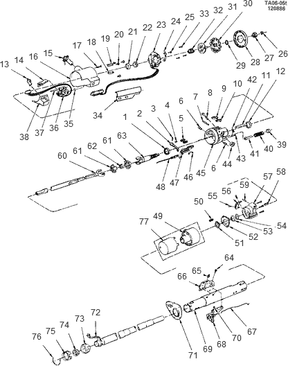 exploded view for the 1986 Chevrolet Blazer Tilt