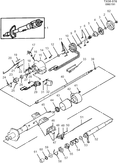 Service manual [How To Disassemble A Tilt Steering Column