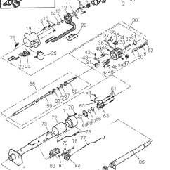 1991 Chevy Truck Wiring Diagram 1976 Corvette Alarm Steering Column Exploded Views For Ford Gm Dodge Chrysler Jeep View With Legend