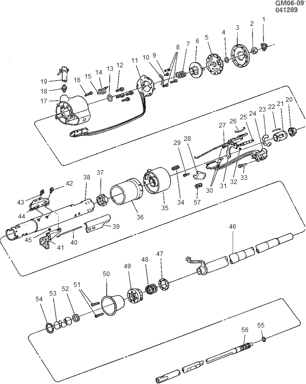 exploded view for the 1988 Buick Electra Non-Tilt