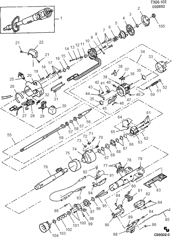 famous chevy truck steering column parts