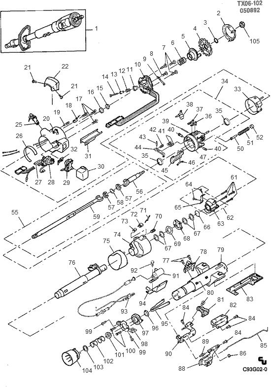 Exploded View For The 1993 Chevrolet Pickup Tilt .html