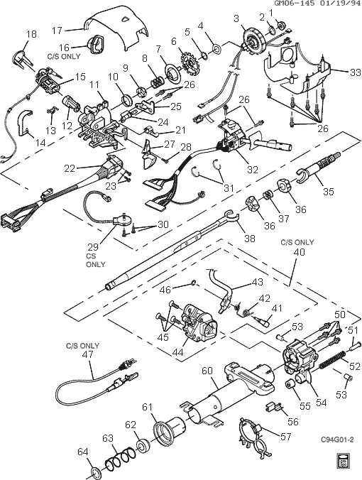 1956 Buick Steering Column Diagram, 1956, Free Engine