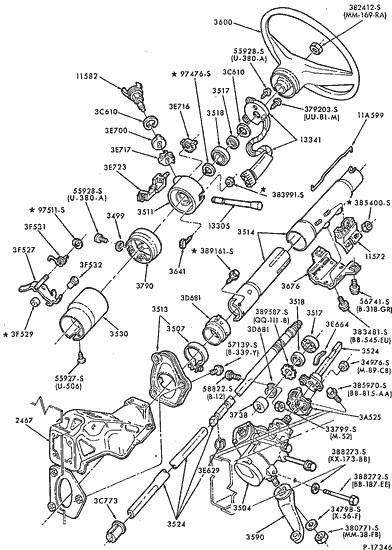 1995 Ford F 250 Truck Wiring Schematic Exploded View For The 1984 Ford F 150 Non Tilt Steering