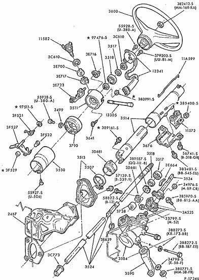 92 ford f150 wiring diagrams gmc sierra stereo diagram exploded view for the 1984 f 150 non tilt steering column design