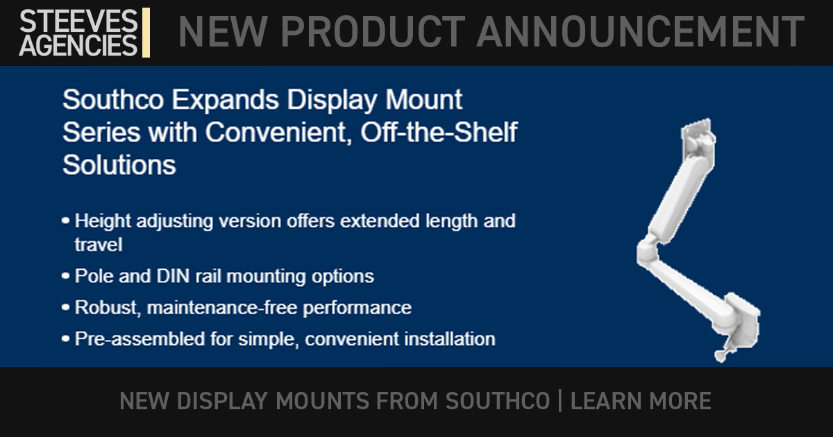 Southco New Display Mount Series With Convenient Off The