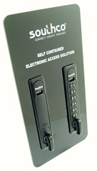 Electronic latches that are easy to install and manage, with no special wiring or programming required