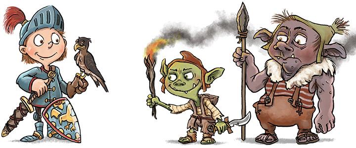 characterdesign-ritter-goblins-illustration-maerchen-fantasy