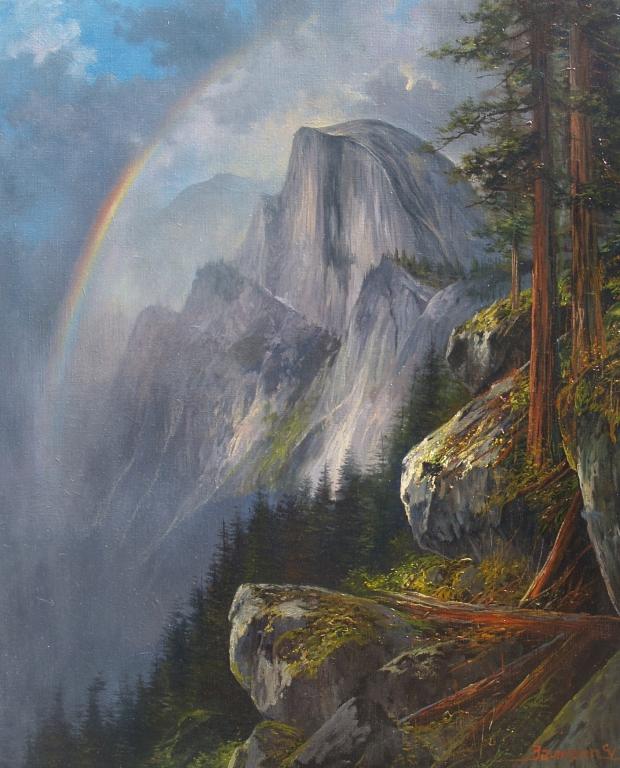 Landscape Art Oil Painting Yosemite National Park