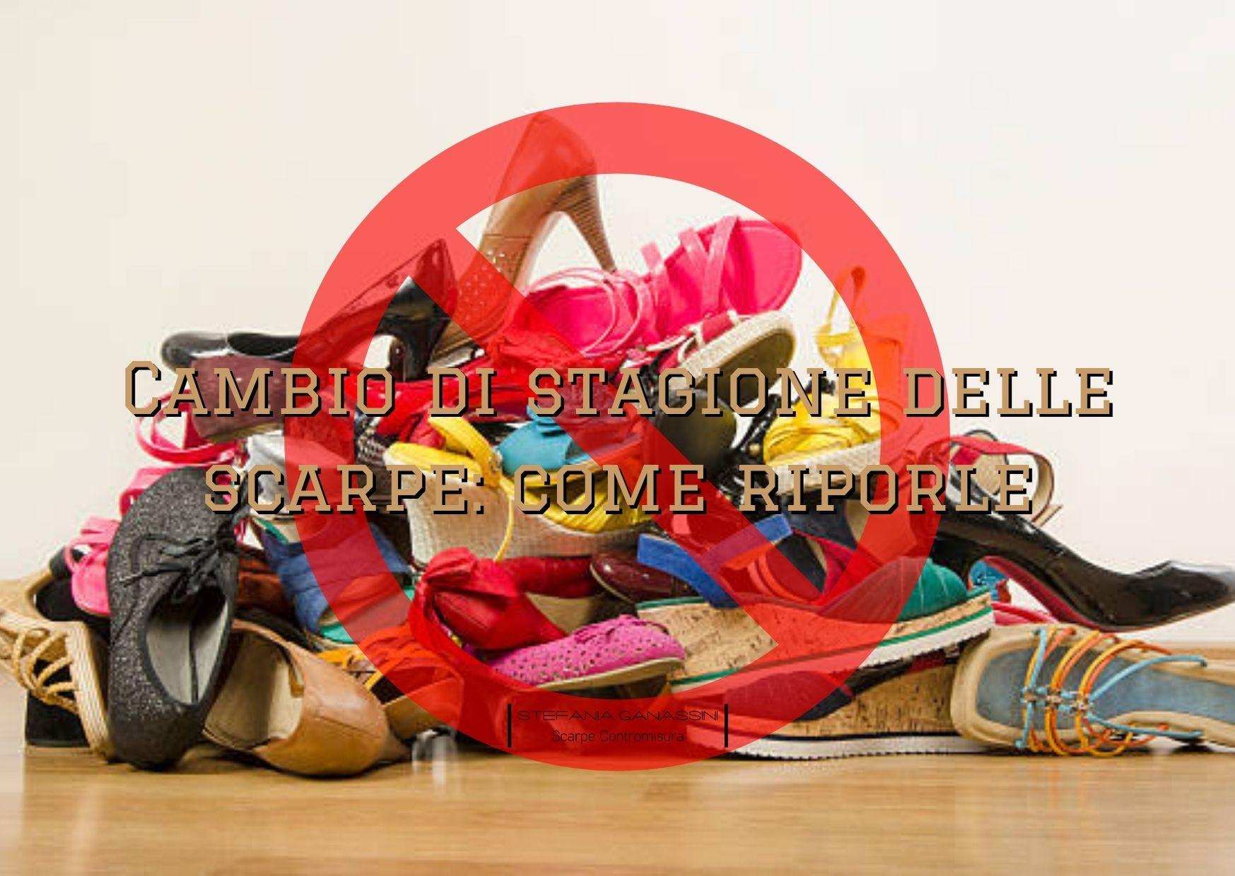 Cambio di stagione delle scarpe come riporle