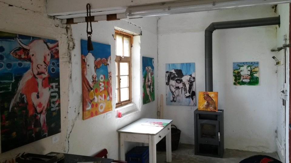 Ausstellung in der Galerie im Atelier von Stefanie Rogge