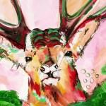 Expressive Malerei Hirsch, von Stefanie Rogge