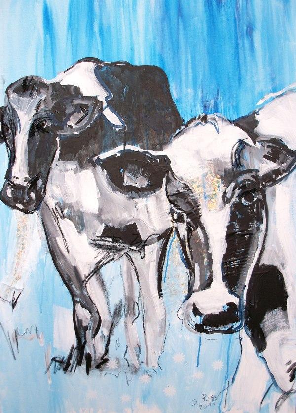 Expressionismus, moderne Malerei, Motiv Kuh