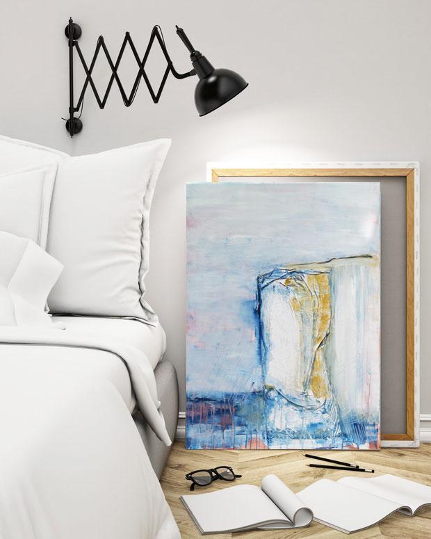 expressive Malerei auf Leinwand