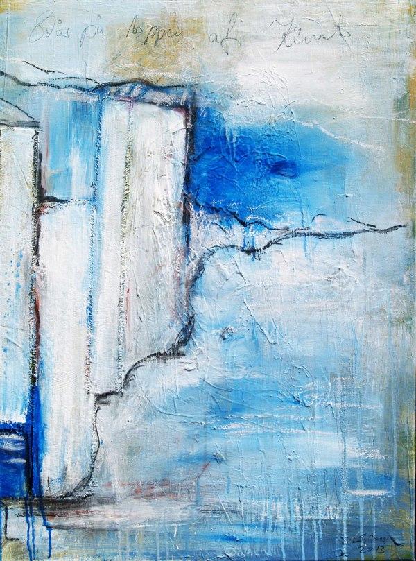 Acryl collagiert Serie Steilküsten