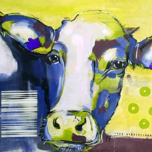 Pop Art Kuh, Kunstdruck kaufen
