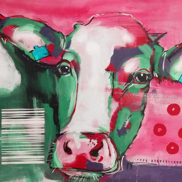Pop Art Kuh, Kunstdruck kaufen, Kuh Leinwand