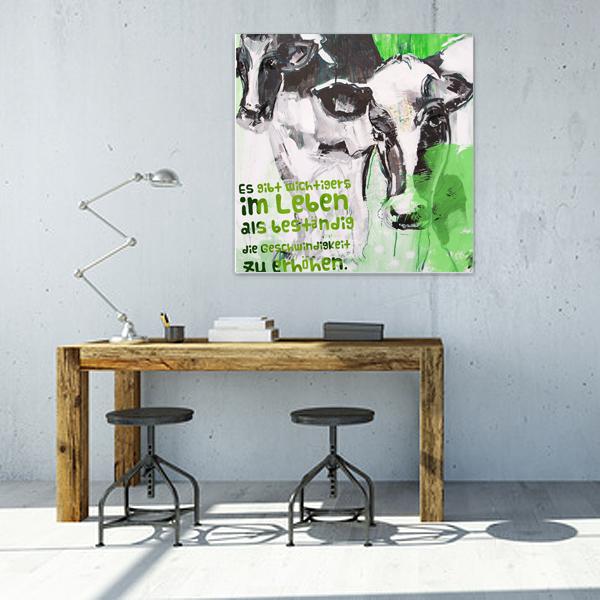 Kuh Kunstdruck auf Leinwand