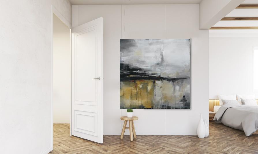 unikat wege und spuren in naturt nen 100 x 100 cm atelier stefanie rogge. Black Bedroom Furniture Sets. Home Design Ideas