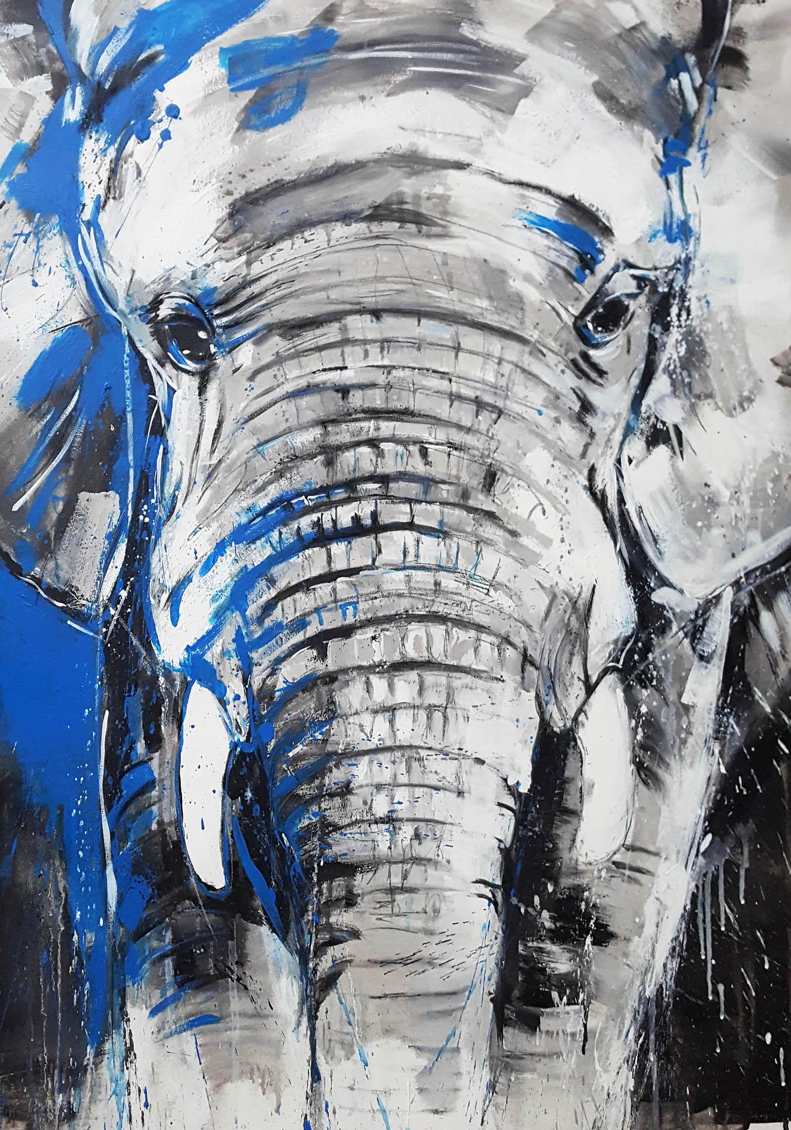 kunstdruck elefant one of the big five xl atelier stefanie rogge. Black Bedroom Furniture Sets. Home Design Ideas