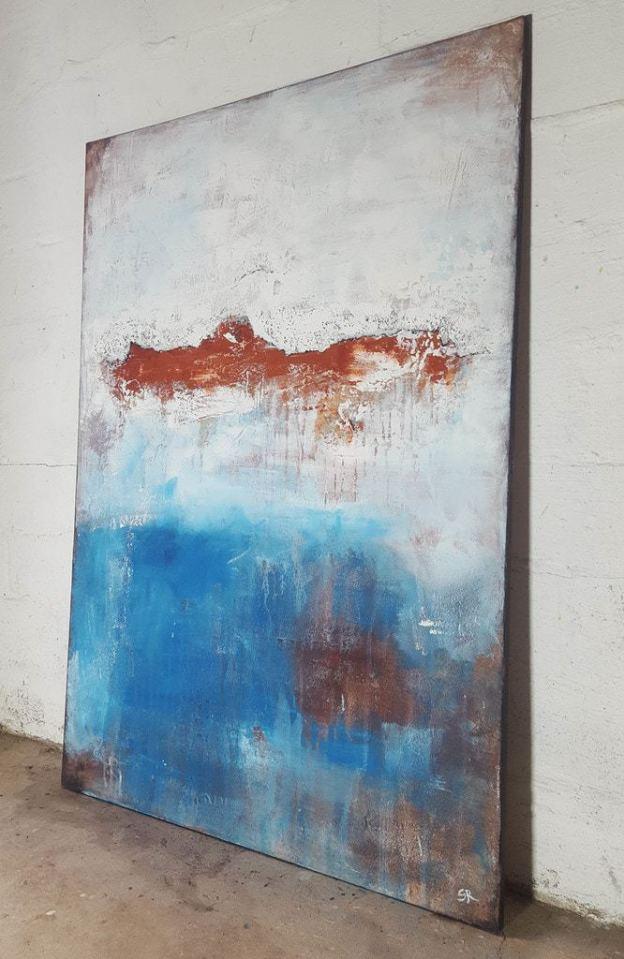 Wandbild abstrakt, abstrakte strukturelle Malerei