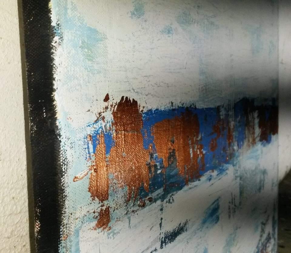 Detail-Leinwand Seite