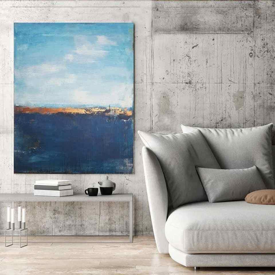 Raumansicht Kunstwerk Seep sea