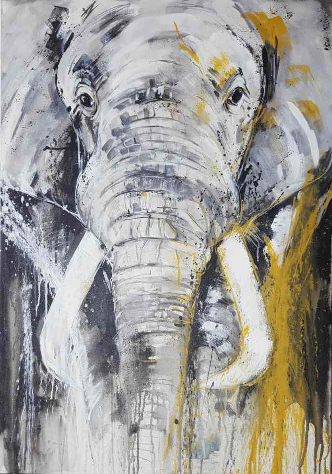 elephant 4 abstrakte bilder original gem lde malerei kunst online kaufen. Black Bedroom Furniture Sets. Home Design Ideas