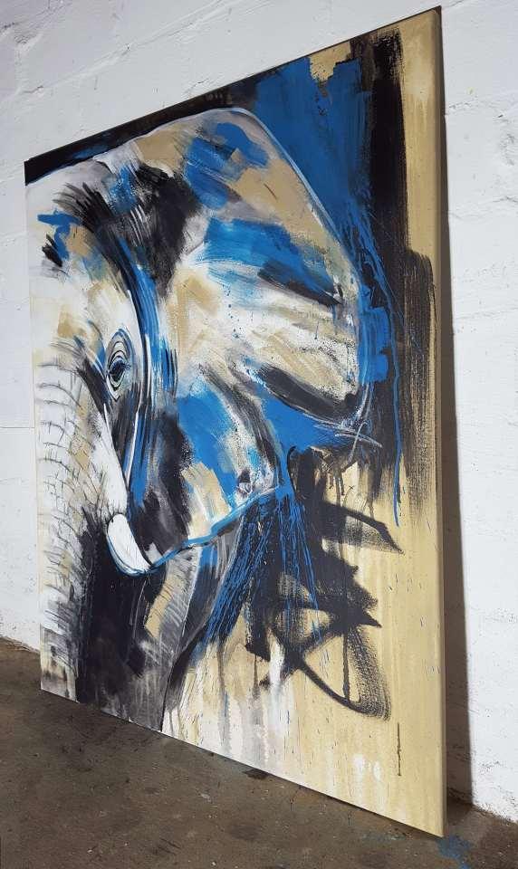 Original Gemälde Elefant No 6 im Atelier von Stefanie Rogge