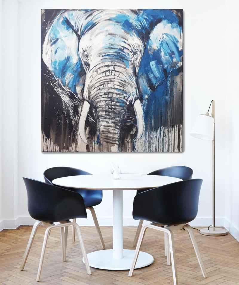 """""""Elefant No 5"""" in Raumansicht"""