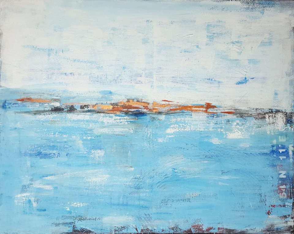 Abstrakt Werkserie Küstenlandschaften, Unikat vom Künstler bestellen
