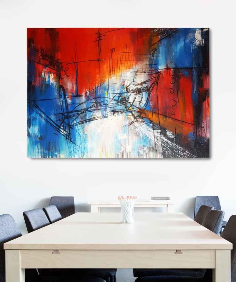 Modernes Gemälde aus der Serie Lost Places von Stefanie Rogge