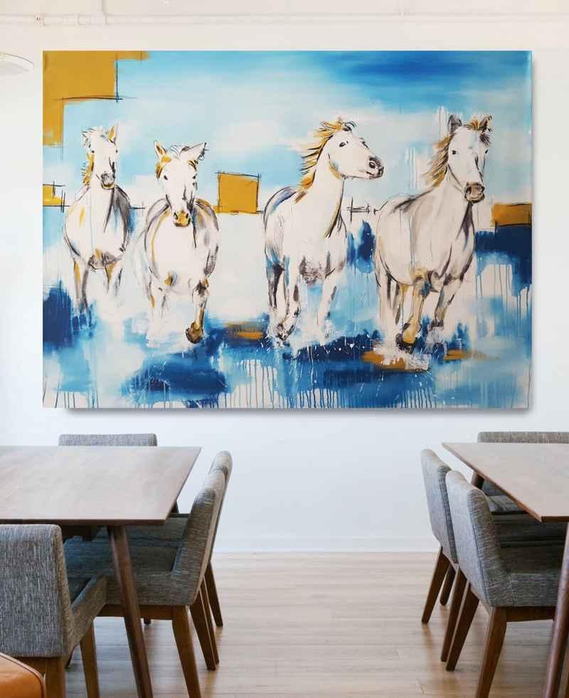 Künstlerin Stefanie Rogge: Pferde Gemälde