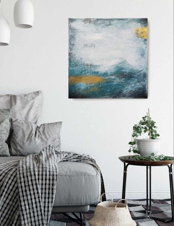abstrakte Kunst Türkis