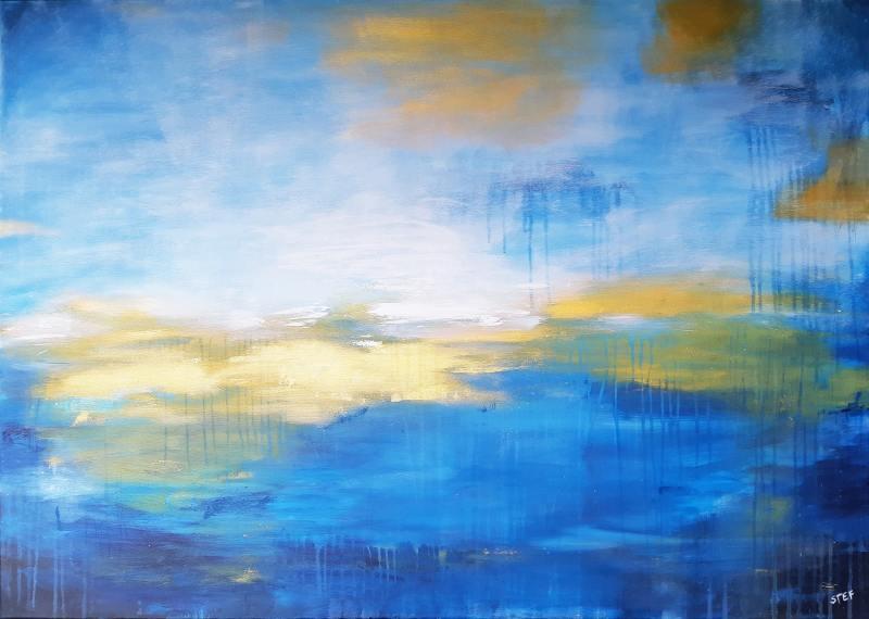 großes abstraktes Leinwandbild