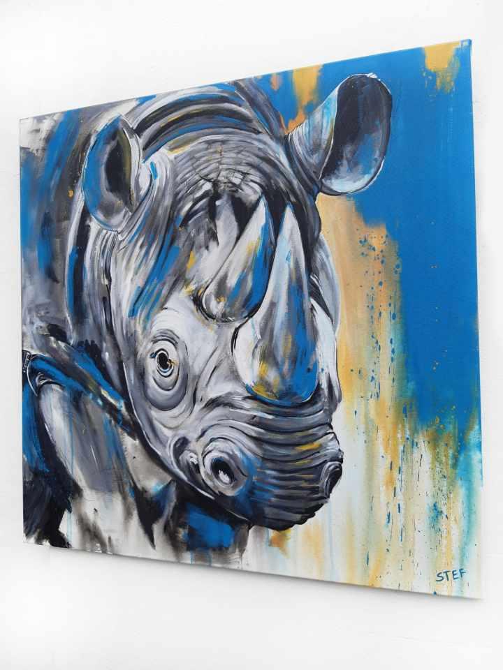 Nashorn Malerei expressiv