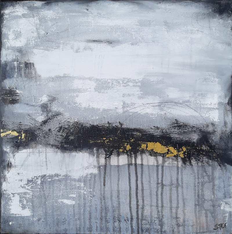 Monochrome Malerei Monochrom abstrakt