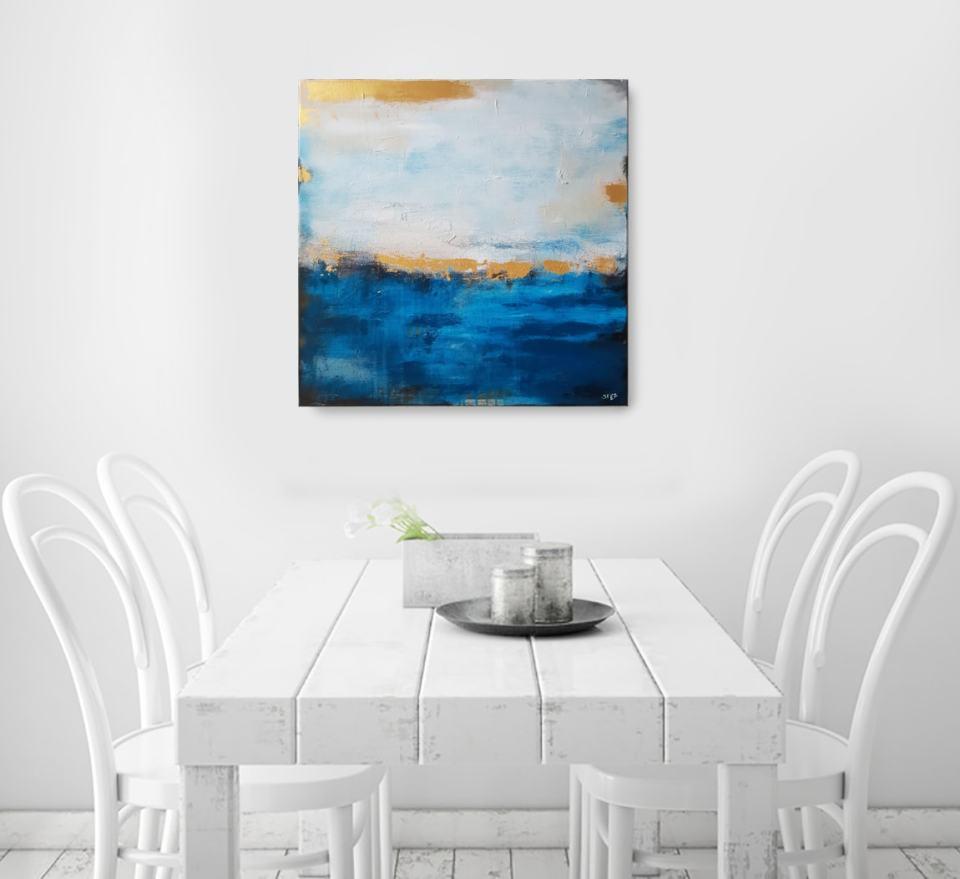 Abstraktes Wandbild vom Meer