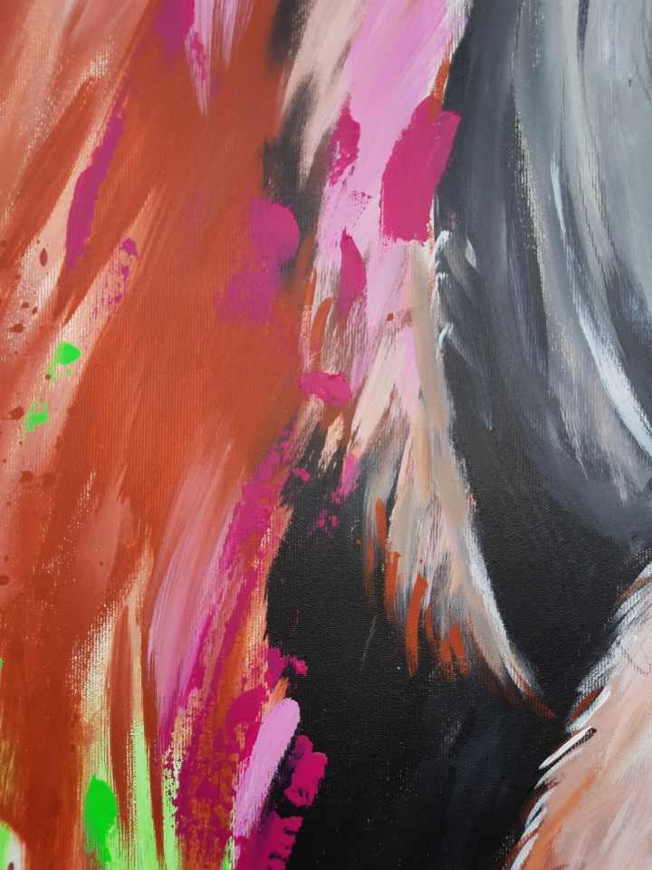 Pop Art Gemälde Detail
