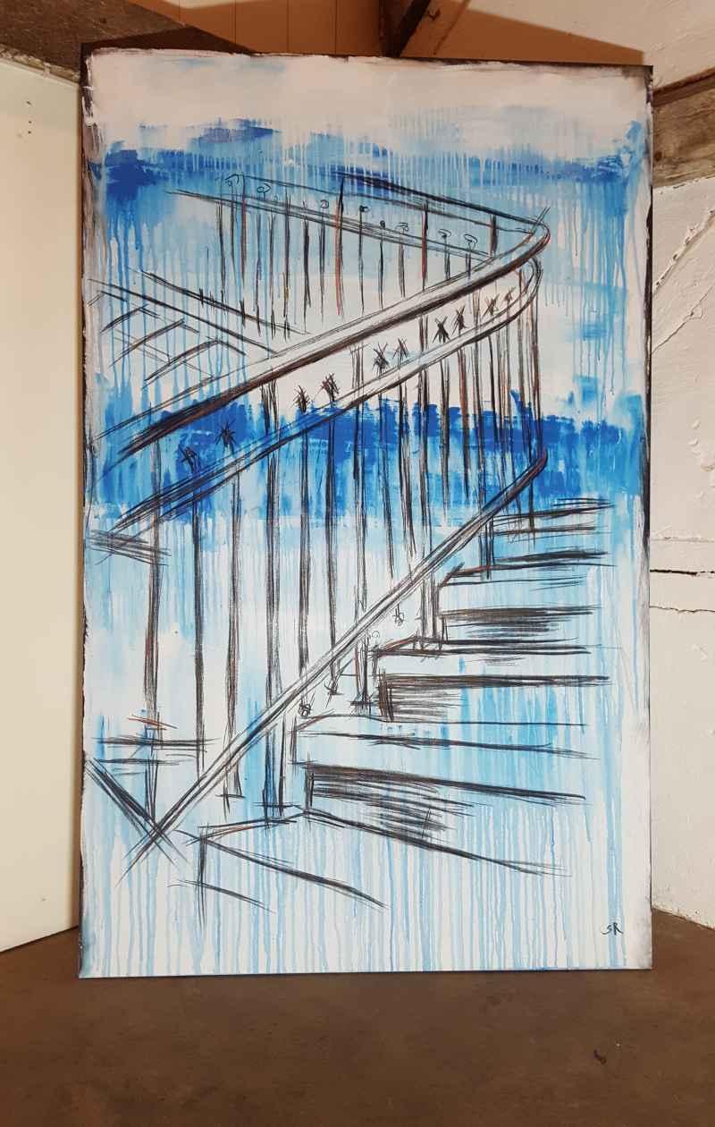 Treppe Lost Places zeitgenössische Malerei