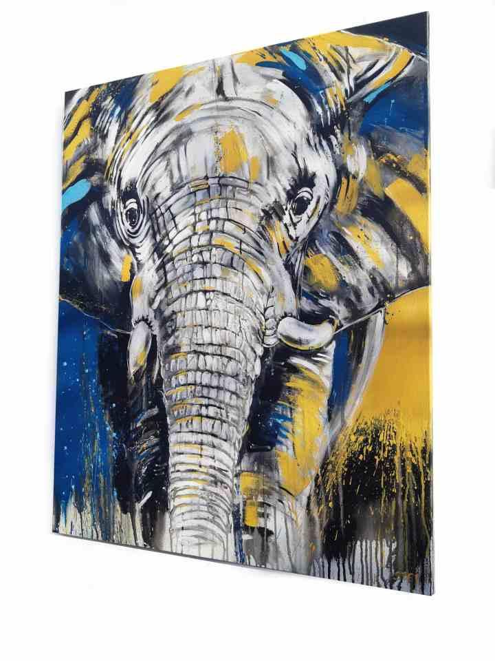Elefant Bild auf Leinwand