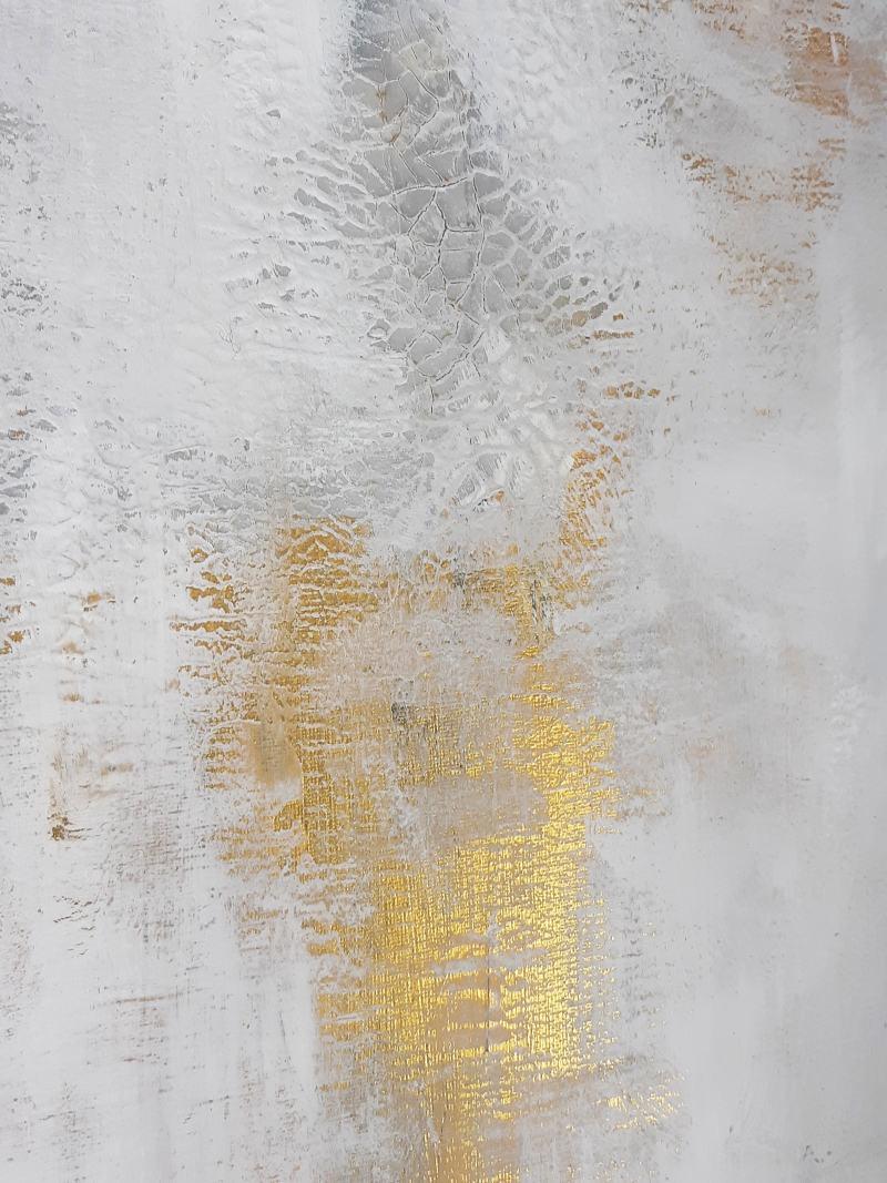 Detail abstrakte Kunst Gold