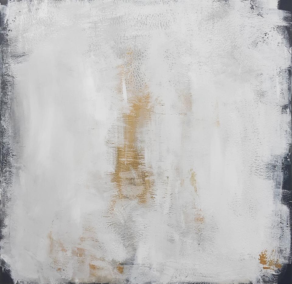 Original Malerei in Gold und Weiß