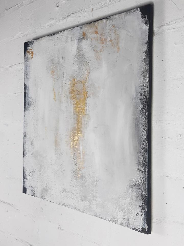 abstrakte Kunst mit Gold - zeitgenössische Malerei von Stefanie Rogge