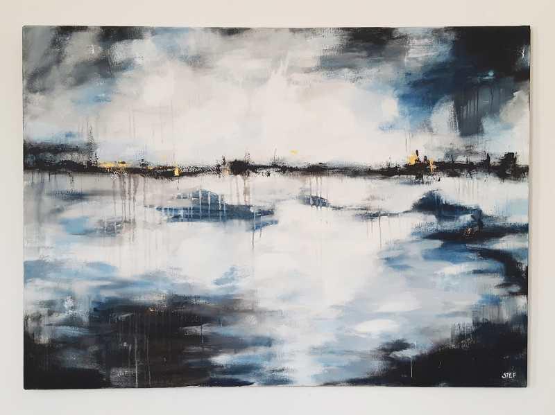großformatige abstrakte Kunst - Wege und Spuren von Stefanie Rogge