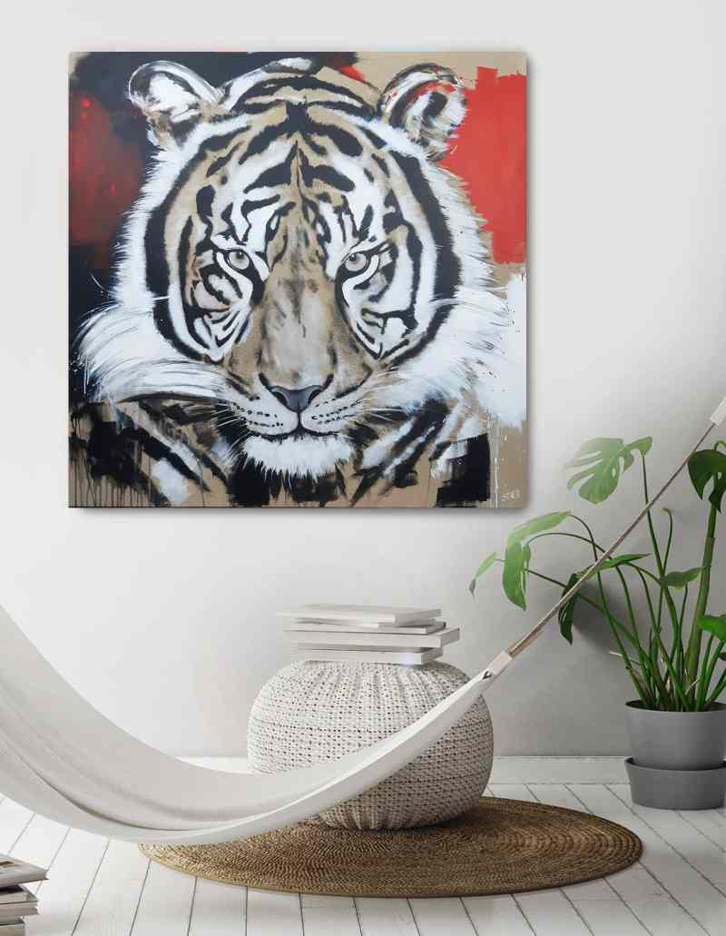 Original Gemälde Tiger von Stefanie Rogge