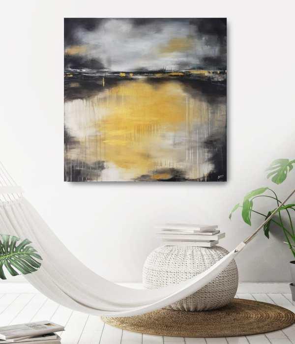 abstrakte modernes Acrylbild