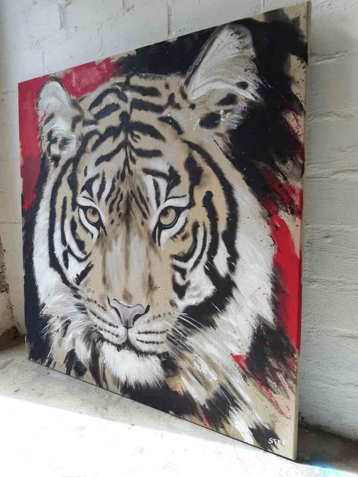 Original Tiger Gemaölde
