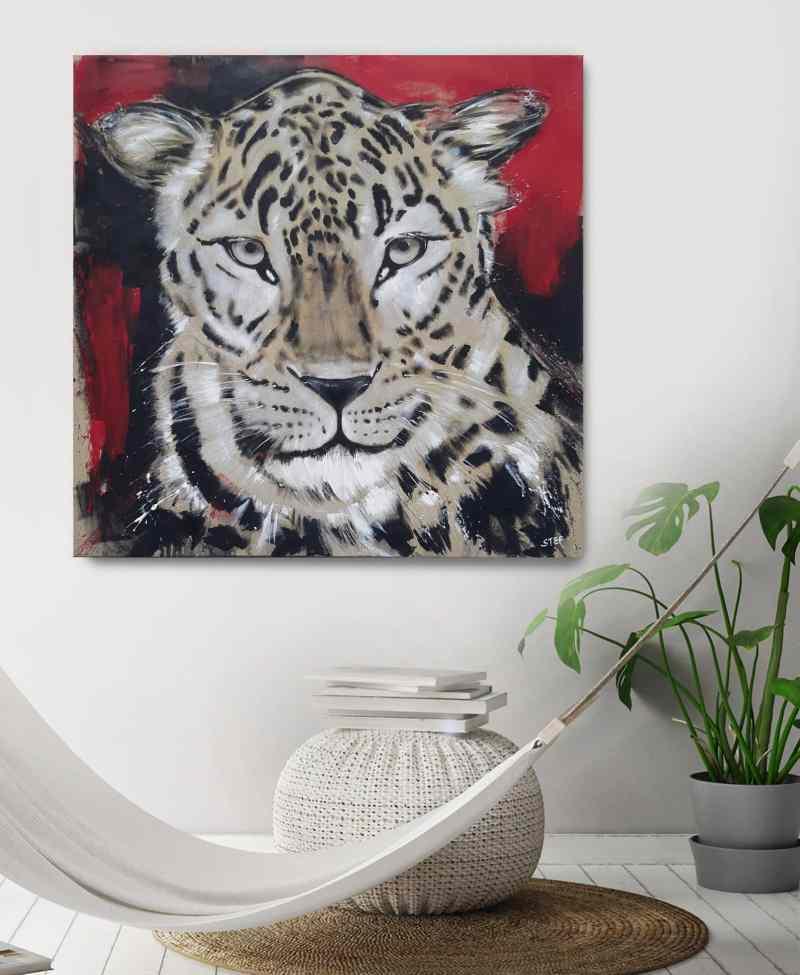 Gemälde modern Leopard