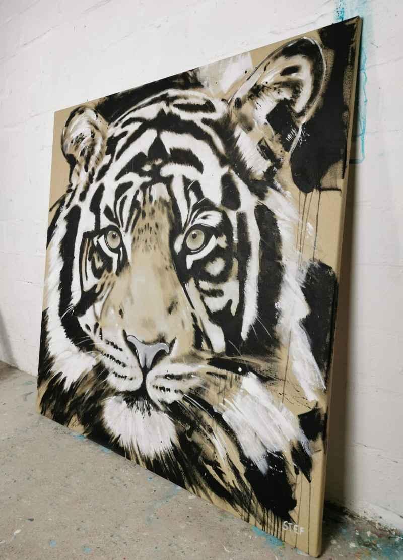 Original Gemälde Tiger 5#5
